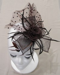 Polka Lace Sinamay Fascinator
